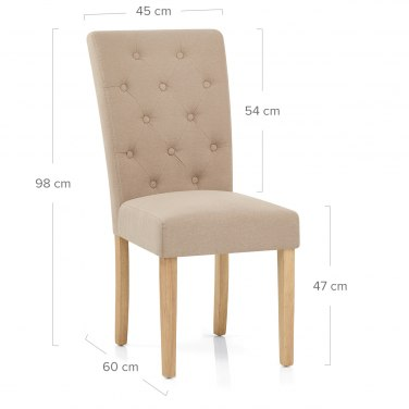 Vigo chair oak beige atlantic shopping - Chaise bois et tissu ...