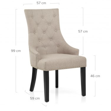 Ascot Dining Chair Tweed Fabric