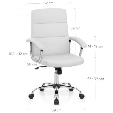 Dimensions. Stanford Office Chair White