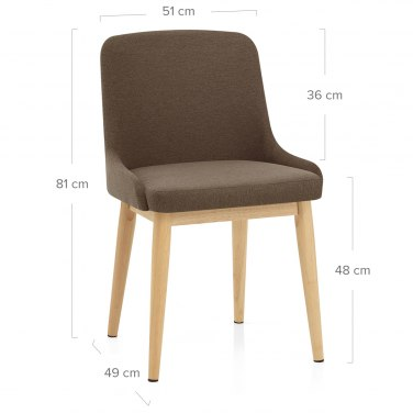 Jersey Dining Chair Oak & Brown