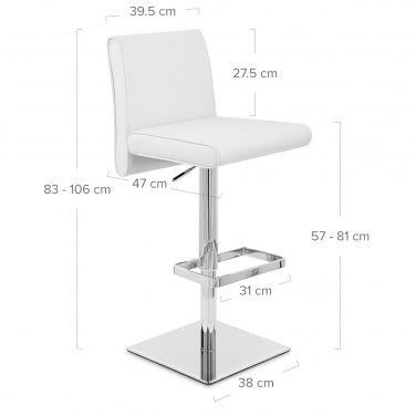 Siena Bar Stool White