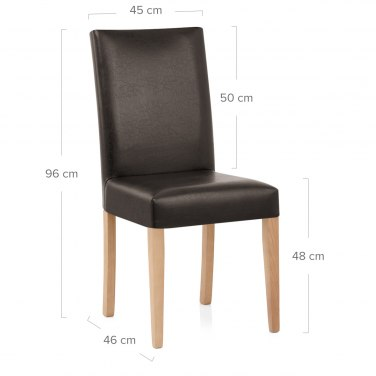 Chicago Oak Dining Chair in Brown