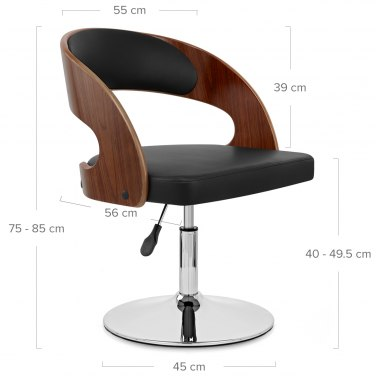 Evelyn Chair Walnut & Black