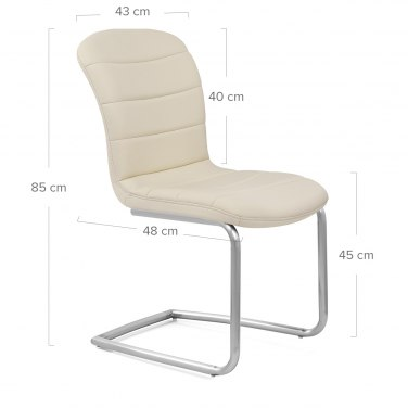 Mica Brushed Dining Chair Cream