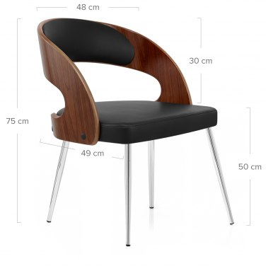 Evans Dining Chair Walnut & Black