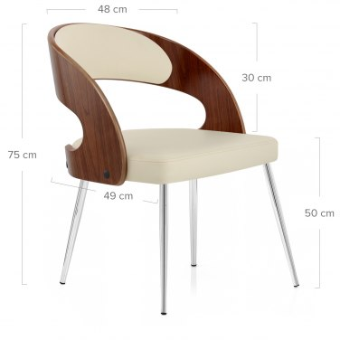 Evans Dining Chair Walnut & Cream
