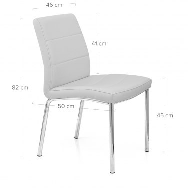 Chrome Breakfast Dining Chair Grey
