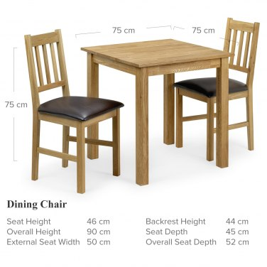 Coxmoor Dining Set Small Dimensions