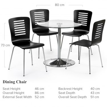 Tupelo Dining Set Dimensions