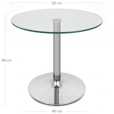 Glacier Brushed Steel Coffee Table