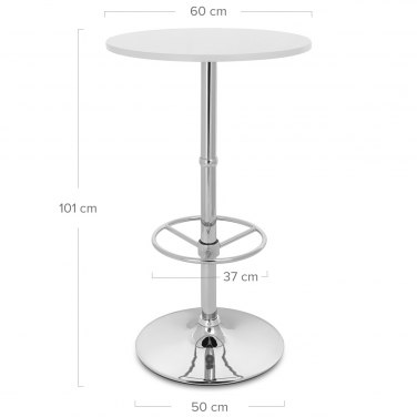 Dial Poseur Table White