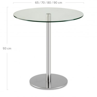 Naples Bar Table Glass