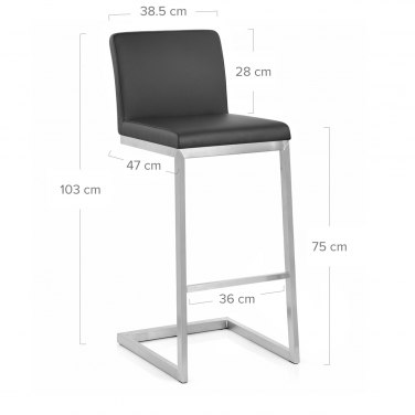 High Ace Brushed Stool Black