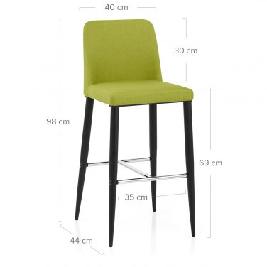 Morgan Kitchen Stool Green Fabric