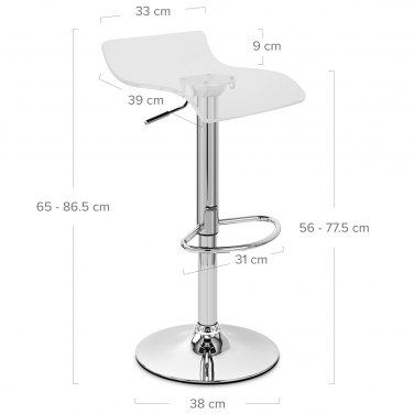 Shimmer Translucent Stool Clear