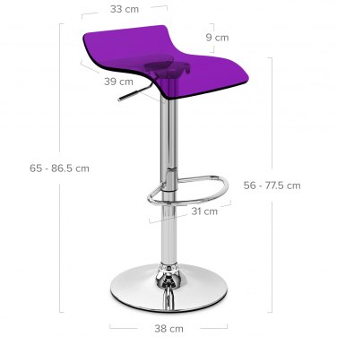Shimmer Translucent Stool Purple