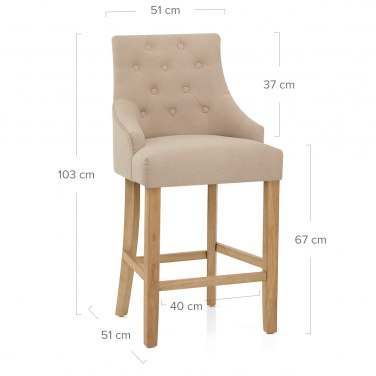 Verdi Bar Stool Beige