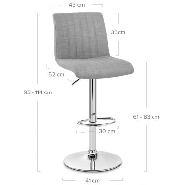 Debut Bar Stool Grey
