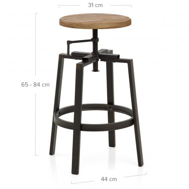 Industrial Turner Stool Light Wood