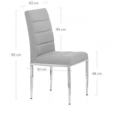 Taurus Dining Chair Light Grey Fabric
