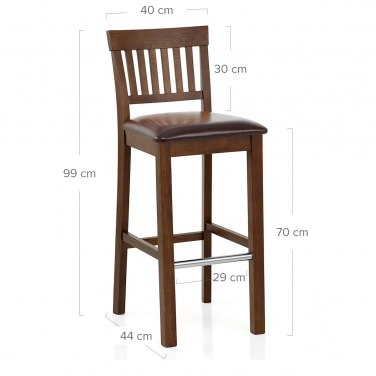 Grasmere Dark Oak Bar Stool Brown