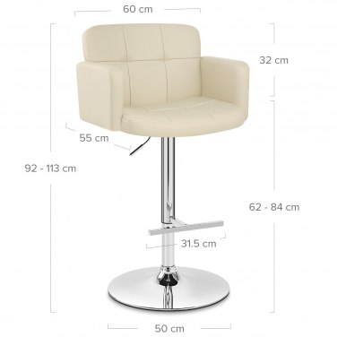 Studio Bar Stool Cream
