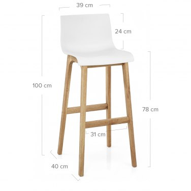 High Drift Oak & White Bar Stool