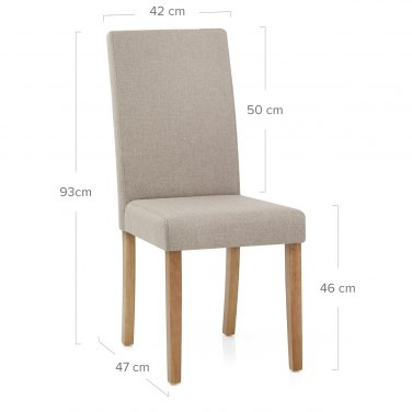 Columbus Oak Dining Chair Tweed