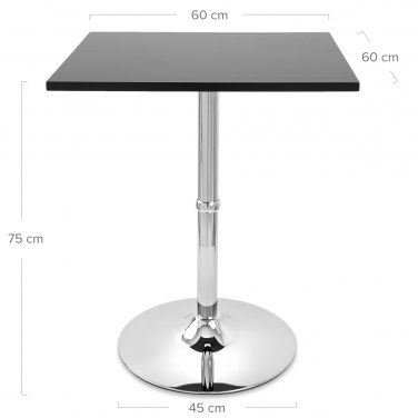 Soho Square Dining Table Black Dimensions