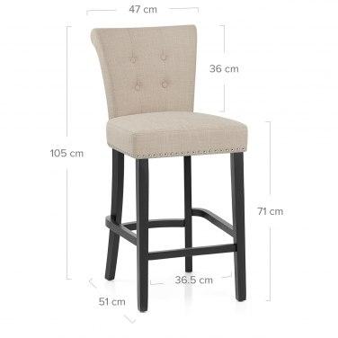 Buckingham bar stool cream fabric atlantic shopping for Buckingham choice floor plans