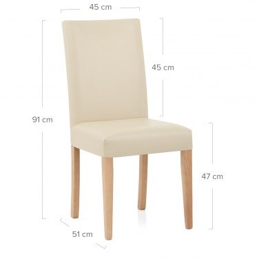 Chicago Oak Dining Chair in Cream