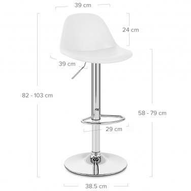 Skye Bar Stool White