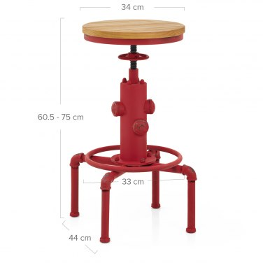 Hydrant Stool Antique Red