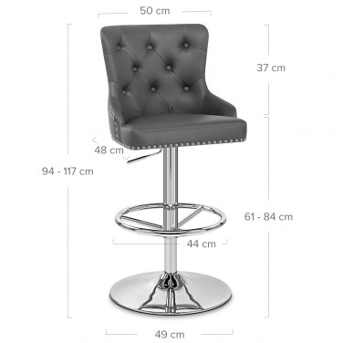 Manor Bar Stool Grey Leather Atlantic Shopping