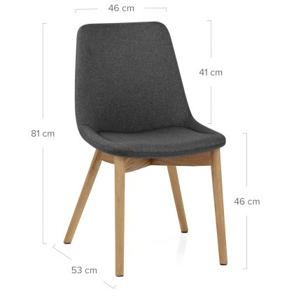 Kobe Dining Chair Oak & Charcoal