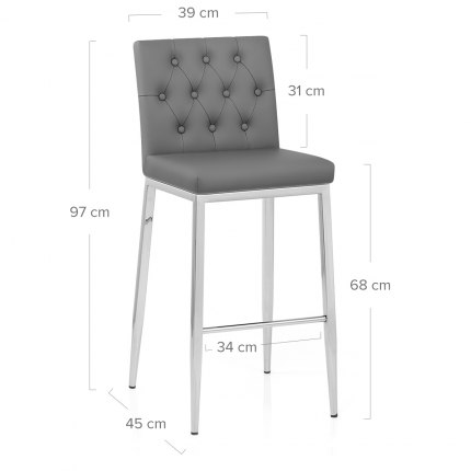 Mellow Bar Stool Dark Grey Dimensions
