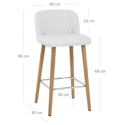 Pacific Wooden Stool White