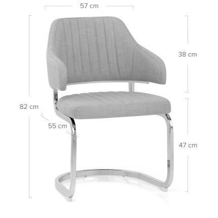 Horizon Chair Grey Fabric Dimensions