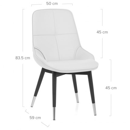 Dynasty Dining Chair White Leather