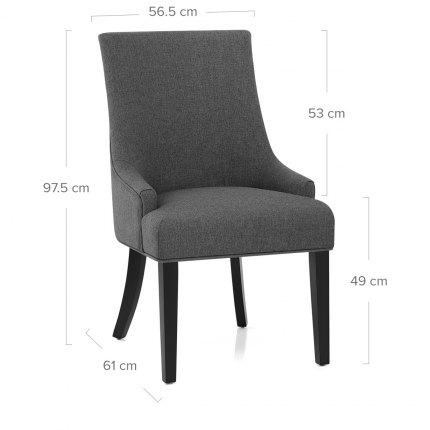 Cavendish Dining Chair Charcoal Fabric