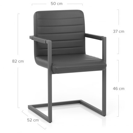 Omega Dining Chair Grey Dimensions