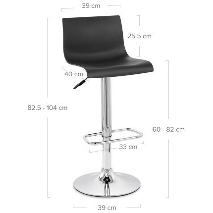 Serena Bar Stool Black