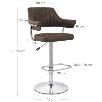 Skyline Bar Chair Brown