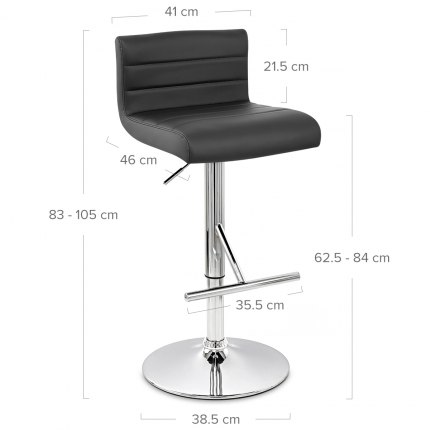 Style Bar Stool Black Dimensions