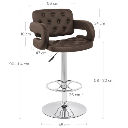 Polaris Bar Stool Brown