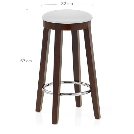 Ikon Kitchen Stool Walnut & White