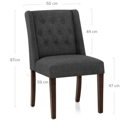 Chatsworth Walnut Dining Chair Charcoal