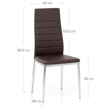 Francesca Dining Chair Brown