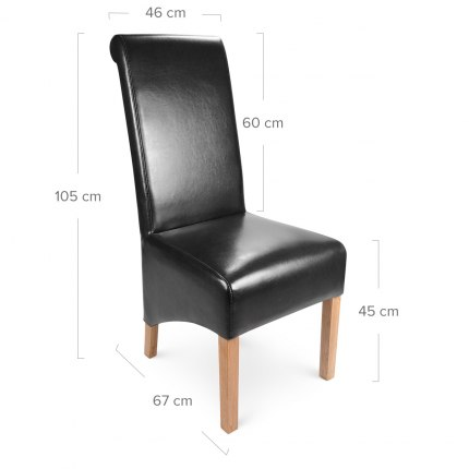 Krista Dining Chair Black Leather