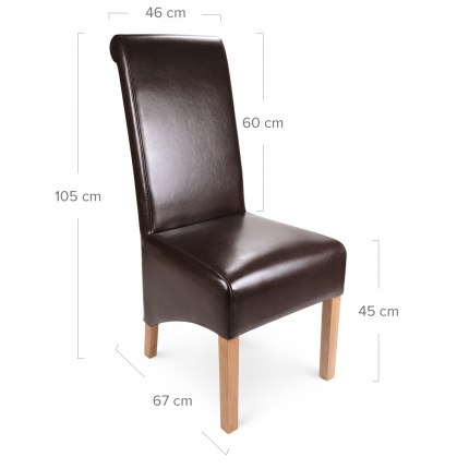 Krista Dining Chair Brown Leather